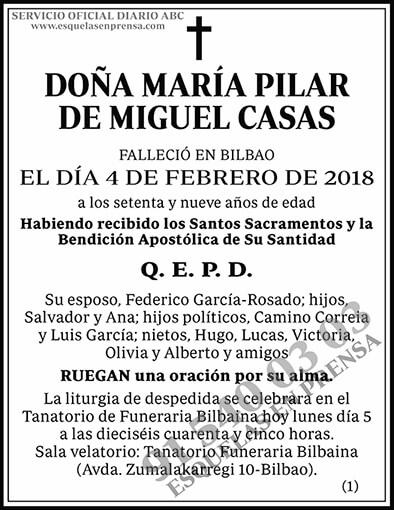 María Pilar de Miguel Casas